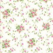 Moda - Sakura Park - 7188 - Pink Rose Buds on Cream - 33482-11 - Cotton Fabric